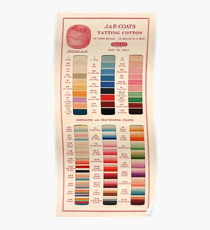 Vintage Color Thread Chart Poster