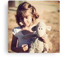 Sheepy and me Canvas Print