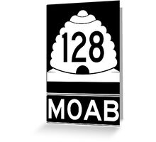 Utah 128 - Moab Greeting Card