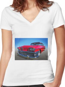 58 Buick Women's Fitted V-Neck T-Shirt