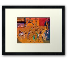 A Jazzy Bunch Framed Print