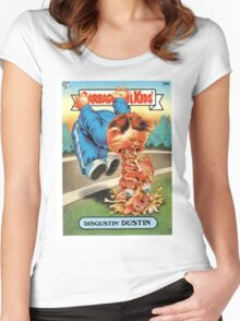 Disgustin Dustin  Women's Fitted Scoop T-Shirt