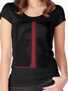 Star wars Dath Vader and Kylo Ren Women's Fitted Scoop T-Shirt