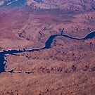 Blue Ribbon - The Colorado River Across The Mojave Desert  by Georgia Mizuleva