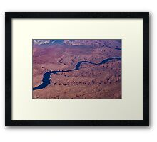 Blue Ribbon - The Colorado River Across The Mojave Desert  Framed Print