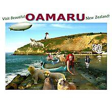 Mermaid Shepherds of Oamaru. Photographic Print