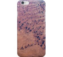 Red Earth - Flying Over Meandering Canyons, Riverbeds and Mesas iPhone Case/Skin
