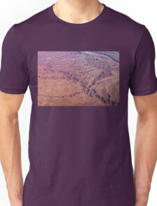 Red Earth - Flying Over Meandering Canyons, Riverbeds and Mesas Unisex T-Shirt