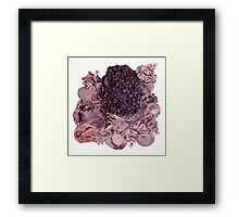 Deep Sea Reef Fabric Sculpture Framed Print