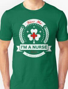 Kiss Me, I'm a Nurse - Irish Unisex T-Shirt