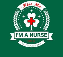 Kiss Me, I'm a Nurse - Irish Womens Fitted T-Shirt