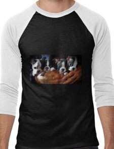 Safe In The Arms Of Love - Puppy Art Men's Baseball ¾ T-Shirt