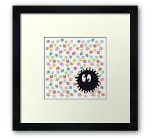 Silly Soot Sprite Framed Print