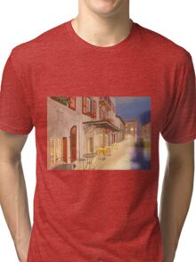 A small cafe in twilight Tri-blend T-Shirt