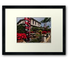 Christmas in a Naples Garden Framed Print