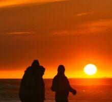 Sunset on Ocean Beach Sticker