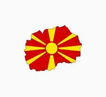 Macedonia Flag Map Unisex T-Shirt