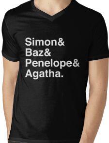 Simon Snow Carry On (First Names) White Text Mens V-Neck T-Shirt