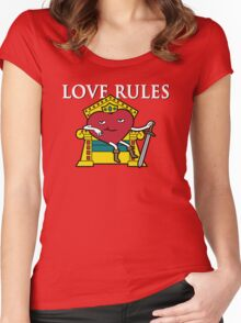 Love Rules Women's Fitted Scoop T-Shirt