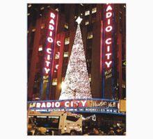 Radio City Music Hall Tree2, NYC, NY One Piece - Short Sleeve