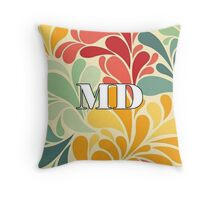 Floral Maryland Throw Pillow