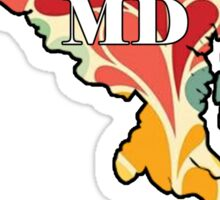 Floral Maryland Sticker