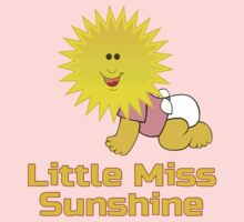 Little Miss Sunshine - Baby Girl Jumpsuit Onesie One Piece - Short Sleeve