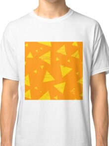 Orange grunge triangle pattern Classic T-Shirt