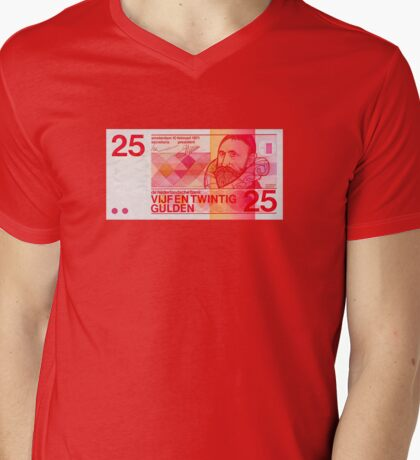 Vijfentwintig Gulden Mens V-Neck T-Shirt