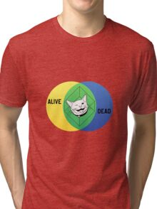 Schrödinger's Cat Venn Diagram Tri-blend T-Shirt