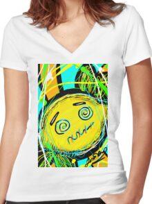 Adorable Lemon Women's Fitted V-Neck T-Shirt
