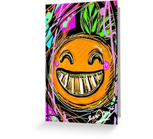 Adorable Orange Greeting Card