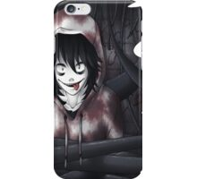 Jeff The Killer - In The Wall iPhone Case/Skin