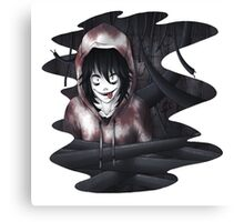 Jeff The Killer - In The Wall Canvas Print