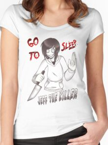 Jeff The Killer - Go To Sleep Women's Fitted Scoop T-Shirt