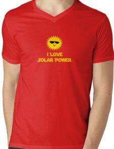 I Love Solar Power- Installer T-Shirt Duvet Mens V-Neck T-Shirt