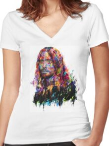 Jared Leto Women's Fitted V-Neck T-Shirt