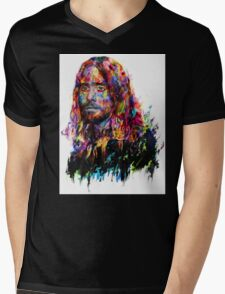 Jared Leto Mens V-Neck T-Shirt