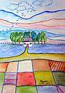 Patchwork landscape by Elizabeth Kendall