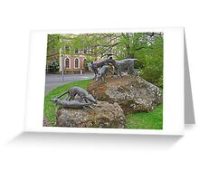 Thylacine statues, Launceston, Tasmania, Australia Greeting Card
