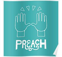 PREACH - Celebration Hands Emoji Art Poster
