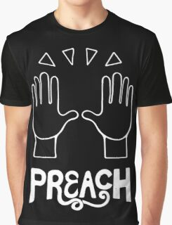 PREACH - Celebration Hands Emoji Art Graphic T-Shirt