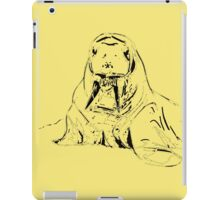 Playful Cute Adorable Fun Pencil Sketched Walrus iPad Case/Skin