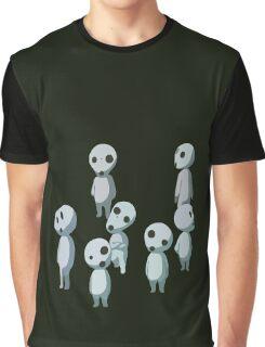 Princess Mononoke, Ghost (Kadama) Graphic T-Shirt