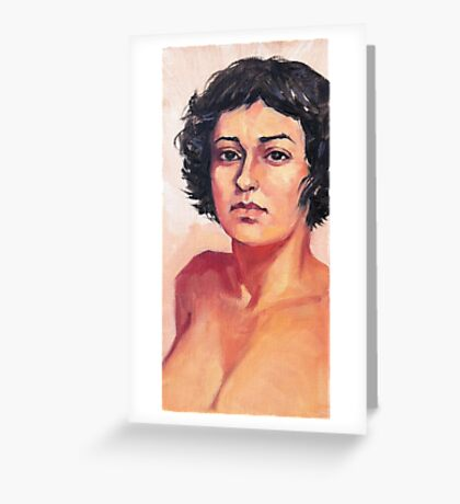 Portrait of Elisa Greeting Card
