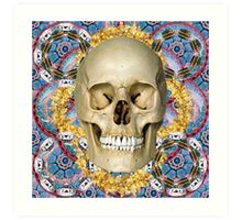 dream skull psychedelia Art Print
