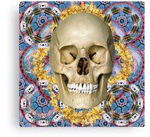 dream skull psychedelia Canvas Print