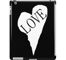 HEART LOVE (White Fill) iPad Case/Skin