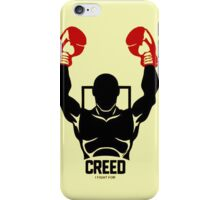 creed 2015 logo boxing i fight for iPhone Case/Skin