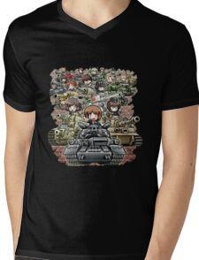 Girls und Panzer Crew Mens V-Neck T-Shirt